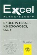 Okładka książki Excel zaawansowany Tom 7 Excel w dziale księgowości część 1