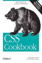Okładka książki CSS Cookbook. Quick Solutions to Common CSS Problems. 3rd Edition