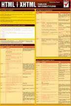 Okładka książki HTML i XHTML. Tablice informatyczne