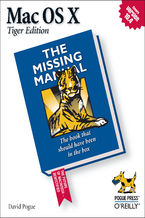 Okładka książki Mac OS X: The Missing Manual, Tiger Edition. The Missing Manual