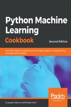 Okładka książki Python Machine Learning Cookbook