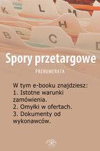 Spory przetargowe, wydanie lipiec 2014 r
