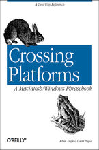 Okładka książki Crossing Platforms A Macintosh/Windows Phrasebook. A Dictionary for Strangers in a Strange Land