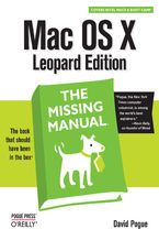 Okładka książki Mac OS X Leopard: The Missing Manual