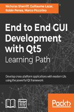 Okładka książki End to End GUI Development with Qt5