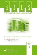 """Silesian Journal of Legal Studies"". Vol. 9"