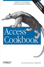 Okładka książki Access Cookbook. Solutions to Common User Interface & Programming Problems. 2nd Edition