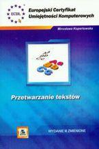 Okładka książki ECUK. Przetwarzanie tekstów