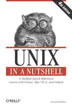 Okładka książki Unix in a Nutshell. A Desktop Quick Reference - Covers GNU/Linux, Mac OS X,and Solaris. 4th Edition