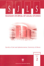 Silesian Journal of Legal Studies. Contents Vol. 2