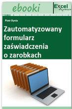 Okładka książki Zautomatyzowany formularz zaświadczenia o zarobkach
