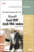 Okładka książki Excel 2007. Język VBA i makra. Rozwiązania w biznesie