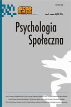 Psychologia Społeczna nr 3(30)/2014