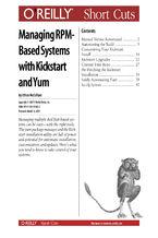 Okładka książki Managing RPM-Based Systems with Kickstart and Yum