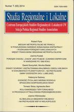 Studia Regionalne i Lokalne nr 1(55)/2014 - Rober Pyka: Bieguny metropolitalne we Francji. W poszukiwaniu narzędzi wzmacniania współpracy i rozwijania powiązań funkcjonalnych między francuskimi obszarami metropolitalnymi