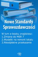 Nowe Standardy Sprawozdawczości, wydanie maj 2016 r