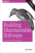 Okładka książki Building Maintainable Software, C# Edition. Ten Guidelines for Future-Proof Code