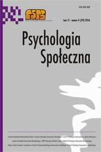Psychologia Społeczna nr 4(39)/2016