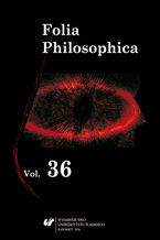 Folia Philosophica. Vol. 36