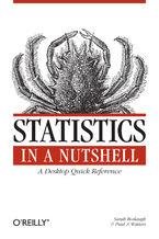 Okładka książki Statistics in a Nutshell. A Desktop Quick Reference