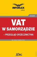 VAT w samorządzie  przegląd orzecznictwa