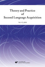 """Theory and Practice of Second Language Acquisition"" 2018. Vol. 4 (1)"