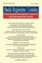 Studia Regionalne i Lokalne nr 1(75)/2019
