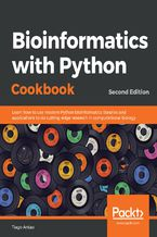 Okładka książki Bioinformatics with Python Cookbook