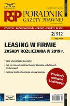 Leasing w firmie  zasady rozliczania w 2019 r