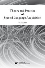 """""""Theory and Practice of Second Language Acquisition"""" 2018. Vol. 4 (2))"""