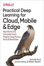 Okładka książki Practical Deep Learning for Cloud, Mobile, and Edge. Real-World AI & Computer-Vision Projects Using Python, Keras & TensorFlow