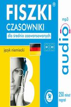 Okładka książki FISZKI audio  j. niemiecki  Czasowniki dla średnio zaawansowanych