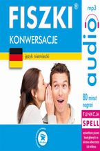 Okładka książki FISZKI audio  j. niemiecki  Konwersacje