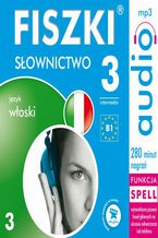 Okładka książki FISZKI audio  j. włoski  Słownictwo 3