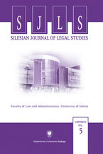 Silesian Journal of Legal Studies. Contents Vol. 5