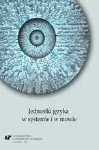 Jednostki języka w systemie i w mowie