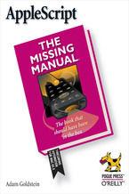 Okładka książki AppleScript: The Missing Manual. The Missing Manual