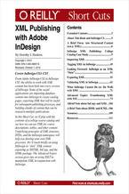 Okładka książki XML Publishing with Adobe InDesign