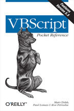 Okładka książki VBScript Pocket Reference