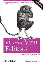 Okładka książki vi and Vim Editors Pocket Reference. Support for every text editing task. 2nd Edition