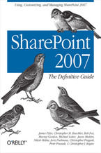 Okładka książki SharePoint 2007: The Definitive Guide