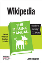 Okładka książki Wikipedia: The Missing Manual. The Missing Manual