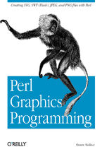 Okładka książki Perl Graphics Programming. Creating SVG, SWF (Flash), JPEG and PNG files with Perl