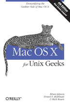 Okładka książki Mac OS X for Unix Geeks (Leopard). Demistifying the Geekier Side of Mac OS X. 4th Edition
