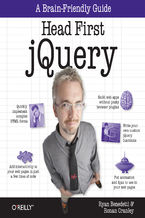 Okładka książki Head First jQuery. A Brain-Friendly Guide
