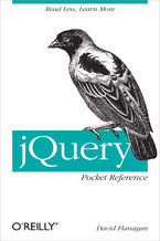 Okładka książki jQuery Pocket Reference. Read Less, Learn More