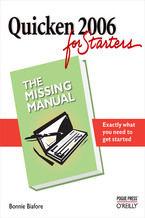 Okładka książki Quicken 2006 for Starters: The Missing Manual. The Missing Manual