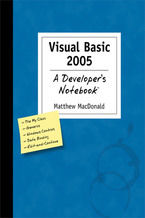 Okładka książki Visual Basic 2005: A Developer's Notebook. A Developer's Not