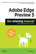 Okładka książki Adobe Edge Preview 5: The Missing Manual