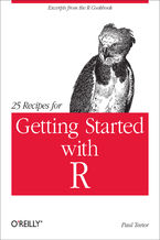 Okładka książki 25 Recipes for Getting Started with R. Excerpts from the R Cookbook